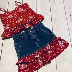 Adorable Bandana OshKosh Outfit